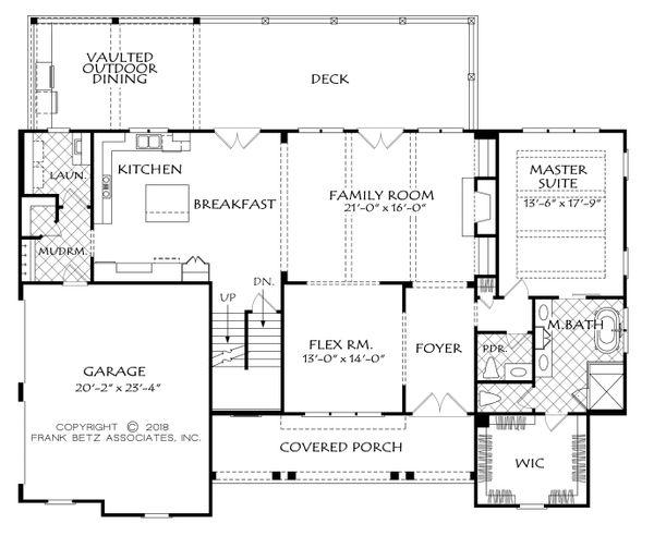 Dream House Plan - Farmhouse Floor Plan - Main Floor Plan #927-987