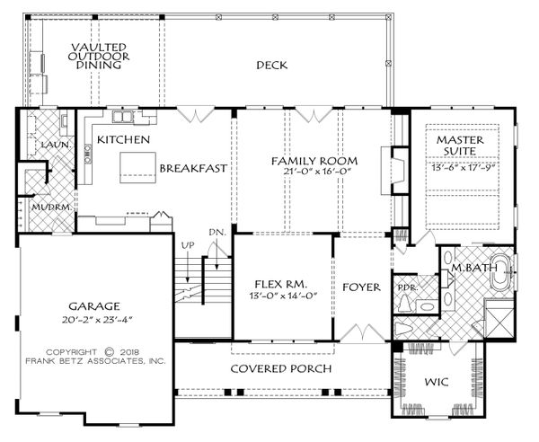 Farmhouse Floor Plan - Main Floor Plan Plan #927-987