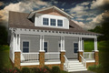 Craftsman Style House Plan - 3 Beds 2.5 Baths 1932 Sq/Ft Plan #461-18 Exterior - Front Elevation