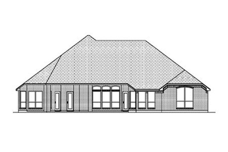 Traditional Exterior - Rear Elevation Plan #84-487 - Houseplans.com