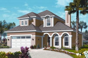 Mediterranean Exterior - Front Elevation Plan #23-2248