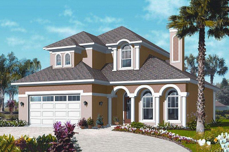 Dream House Plan - Mediterranean Exterior - Front Elevation Plan #23-2248