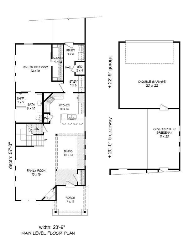 Cabin Floor Plan - Main Floor Plan Plan #932-19
