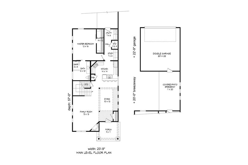 Cabin Floor Plan - Main Floor Plan Plan #932-19