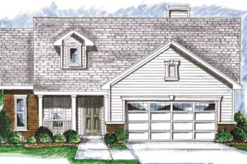 Traditional Exterior - Front Elevation Plan #20-1374