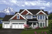 Traditional Style House Plan - 5 Beds 3.5 Baths 3160 Sq/Ft Plan #70-1088 Exterior - Front Elevation