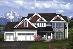 Traditional Exterior - Front Elevation Plan #70-1088