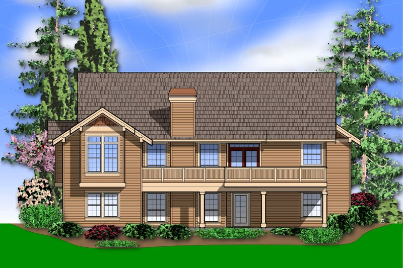 Craftsman Exterior - Rear Elevation Plan #48-601 - Houseplans.com