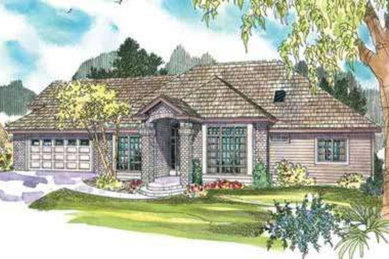 Exterior - Front Elevation Plan #124-605