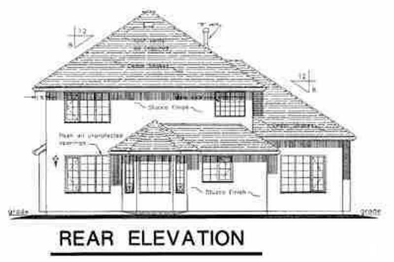 Traditional Exterior - Rear Elevation Plan #18-254 - Houseplans.com