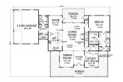 Farmhouse Style House Plan - 3 Beds 4 Baths 2796 Sq/Ft Plan #513-2172 Floor Plan - Main Floor Plan