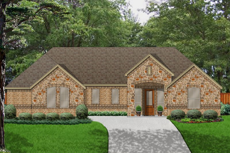 Traditional Style House Plan - 3 Beds 2 Baths 2027 Sq/Ft Plan #84-624 Exterior - Front Elevation