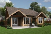 Craftsman Style House Plan - 3 Beds 2 Baths 1529 Sq/Ft Plan #48-598 Exterior - Rear Elevation