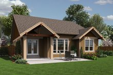 Dream House Plan - Craftsman Exterior - Rear Elevation Plan #48-598