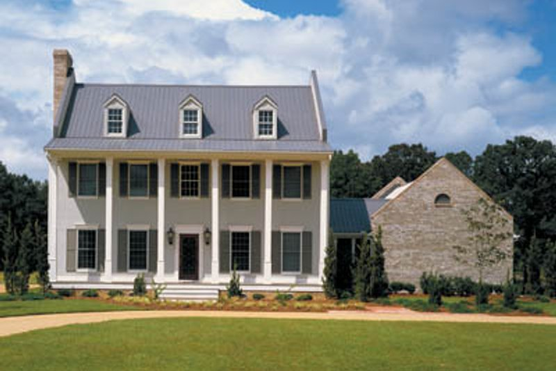Southern Exterior - Front Elevation Plan #45-157