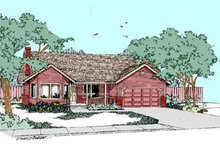 Home Plan Design - Traditional Exterior - Front Elevation Plan #60-281