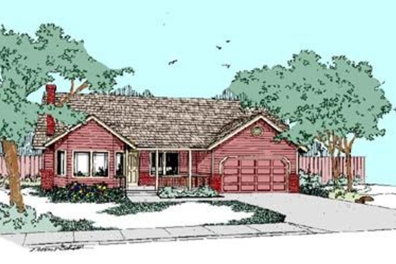 Traditional Exterior - Front Elevation Plan #60-281 - Houseplans.com