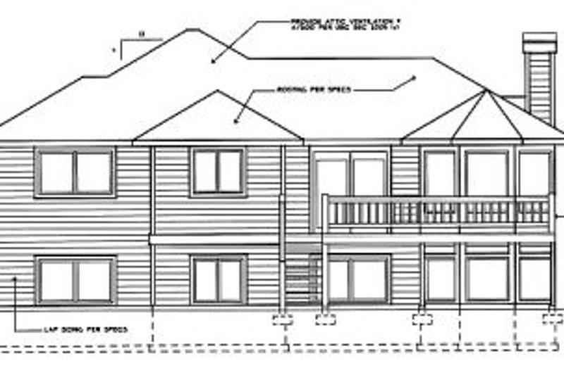 Traditional Exterior - Rear Elevation Plan #90-402 - Houseplans.com