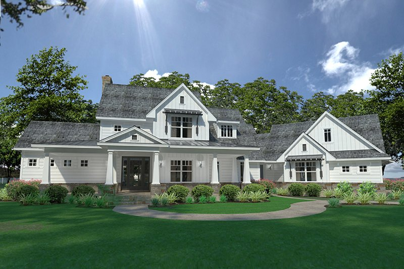 Home Plan - Farmhouse Exterior - Front Elevation Plan #120-251
