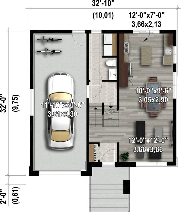 Contemporary Floor Plan - Main Floor Plan #25-4894