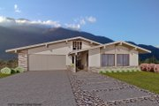 Ranch Style House Plan - 3 Beds 2 Baths 1491 Sq/Ft Plan #489-1 Exterior - Front Elevation