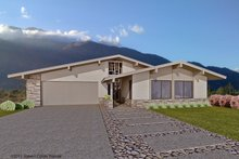Ranch Exterior - Front Elevation Plan #489-1