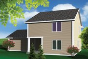 Traditional Style House Plan - 3 Beds 2.5 Baths 1624 Sq/Ft Plan #70-1068 Exterior - Rear Elevation