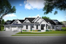 Ranch Exterior - Front Elevation Plan #70-1467