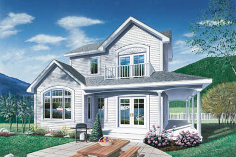 European Exterior - Front Elevation Plan #23-2036