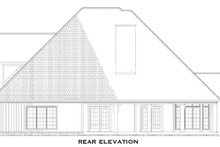 House Plan Design - Craftsman Exterior - Rear Elevation Plan #17-2531