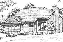 Home Plan - Country Exterior - Front Elevation Plan #320-427