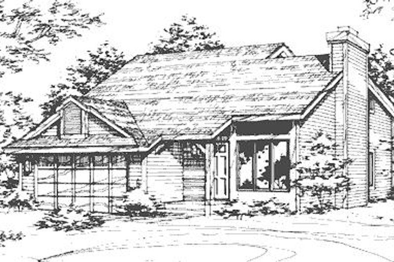 Country Exterior - Front Elevation Plan #320-427