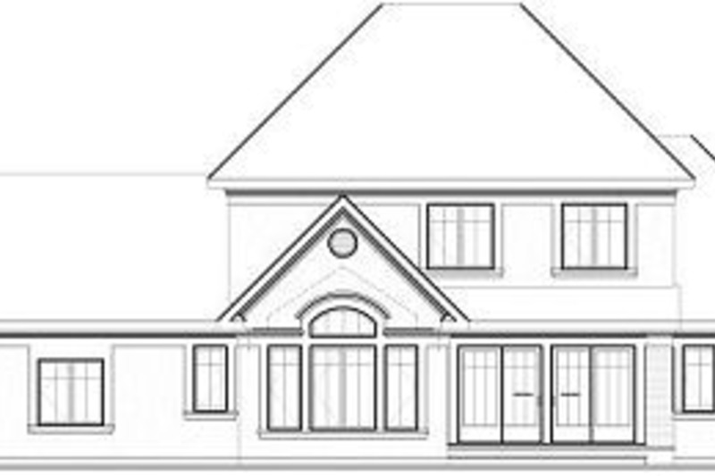 Traditional Exterior - Rear Elevation Plan #23-831 - Houseplans.com