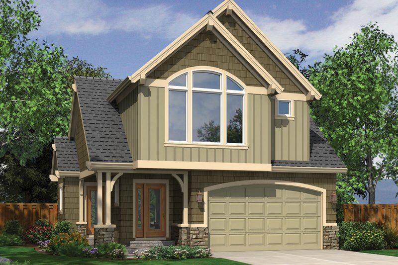 Craftsman Exterior - Front Elevation Plan #48-573