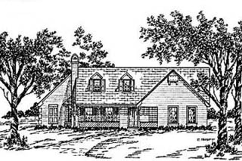 Architectural House Design - Country Exterior - Front Elevation Plan #36-141