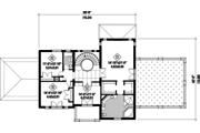 European Style House Plan - 4 Beds 2 Baths 3873 Sq/Ft Plan #25-4757 Floor Plan - Upper Floor Plan