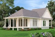 Craftsman Style House Plan - 1 Beds 1.5 Baths 1062 Sq/Ft Plan #45-588 Exterior - Rear Elevation