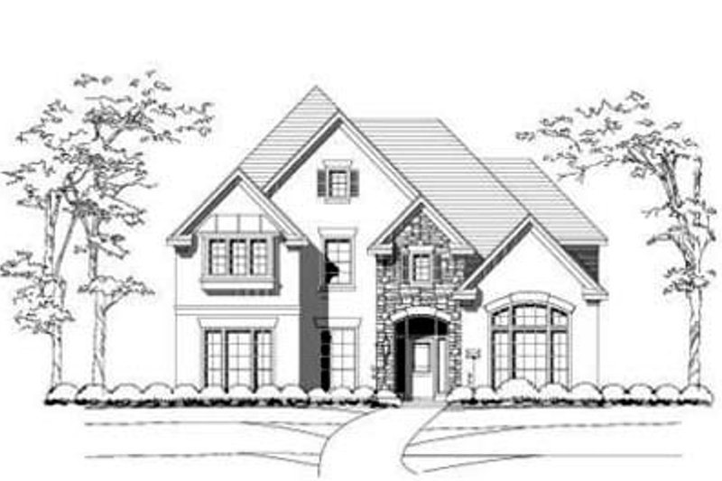 Traditional Style House Plan - 5 Beds 4 Baths 4019 Sq/Ft Plan #411-106 Exterior - Front Elevation