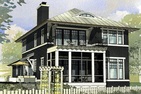 Beach Exterior - Front Elevation Plan #901-130
