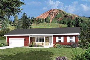 Ranch Exterior - Front Elevation Plan #57-468