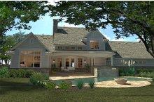House Design - Craftsman style home, rear elevation