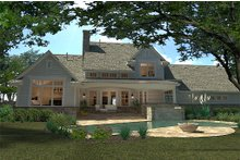 Architectural House Design - Craftsman style home, rear elevation