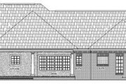 Ranch Style House Plan - 3 Beds 2.5 Baths 1896 Sq/Ft Plan #21-103 Exterior - Rear Elevation