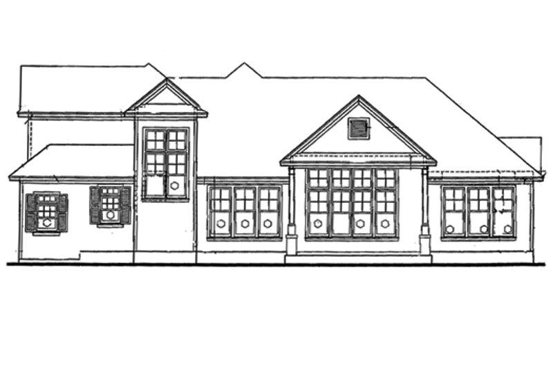 Traditional Exterior - Rear Elevation Plan #20-612 - Houseplans.com