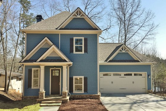 Architectural House Design - Craftsman Exterior - Front Elevation Plan #437-91