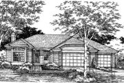 Traditional Style House Plan - 3 Beds 2 Baths 2228 Sq/Ft Plan #320-108 Exterior - Front Elevation