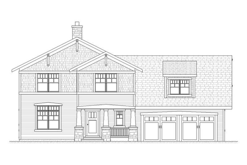 Craftsman Style House Plan - 4 Beds 3.5 Baths 2728 Sq/Ft Plan #901-55