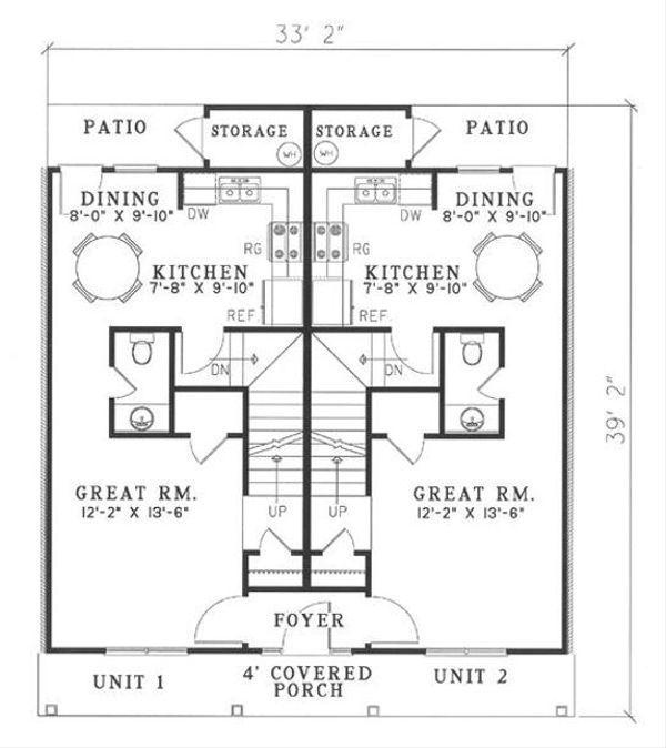 Home Plan - Southern Floor Plan - Main Floor Plan #17-2270