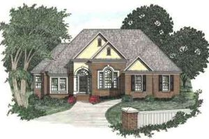 Traditional Exterior - Front Elevation Plan #129-104