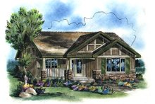 Dream House Plan - Craftsman Exterior - Front Elevation Plan #18-1042